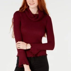 NEW!!! American Rag Juniors' Cowl-Neck Top
